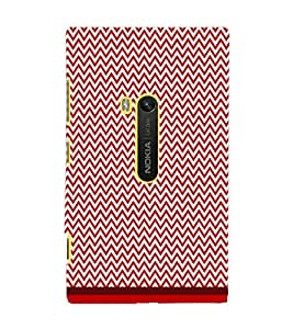 PrintDhaba Zig Zag Pattern D-1697 Back Case Cover for NOKIA LUMIA 920 (Multi-Coloured)