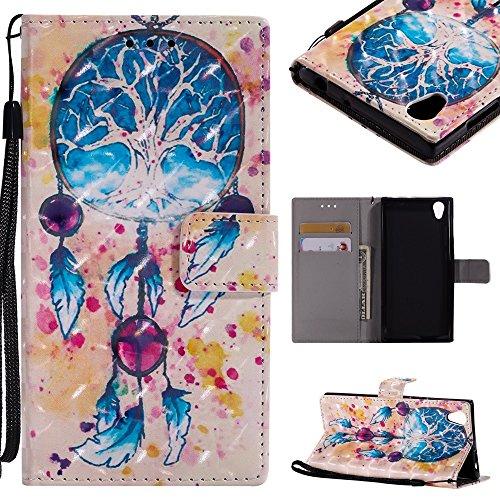 CHENJUAN 3D-Flash Painted Design für Sony Xperia E6 / Sony Xperia L1, PU-Leder aufgeteilter Flip-Cover (Pattern : 5)