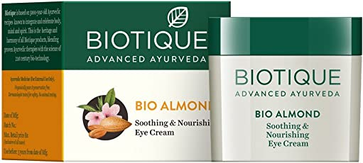 Biotique Bio Almond Soothing and Nourishing Eye Cream, 15g