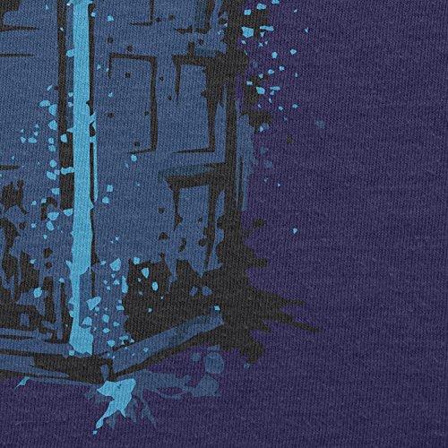 NERDO - Police Box Splash - Damen T-Shirt Navy