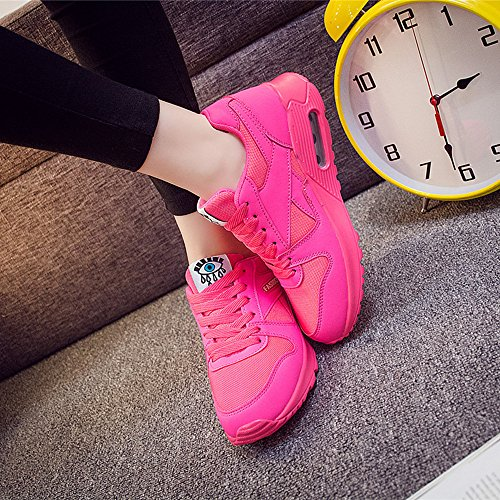 Peggie House Baskets Chaussures Jogging Course Gym Fitness Sport Lacet Sneakers Style Running Multicolore Respirante Femme Rose Pink