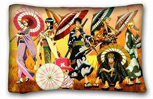 "Soft Pillow case/Fundas para almohada Cover ( Anime One Piece ) Pillow Covers Bedding Accessories Size 20""X30"" suitable for King-bed PC-Bluish-44935"