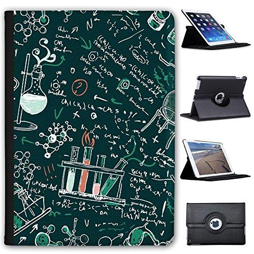 """Fancy A Snuggle Wissenschaftliche Formeln & Kreidezeichnung Case Cover/Folio aus Kunstleder für Das Apple iPad 9.7"""" 5th Generation (2017)"""