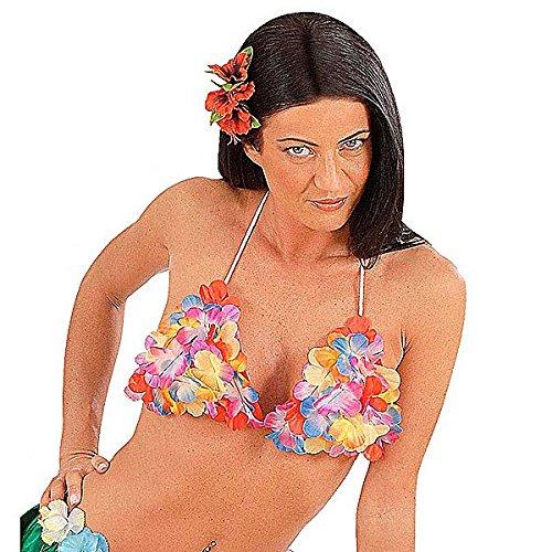 Hawaii Blumen-Oberteil Neckholder-Top Kostümzubehör bunt Einheitsgröße (Meerjungfrau Muschel Bh Kostüm)