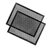 Uarter barbecue Mat antiaderente resistente al calore BBQ Grilling mesh PFOA e riutilizzabile, resiste fino a 482F (250℃), facile da pulire, set di 2