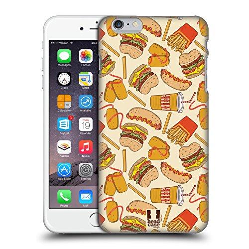 Head Case Designs Hamburger Et Pommes Fast Food - Motifs Étui Coque D'Arrière Rigide Pour Apple iPhone 5 / 5s / SE Hamburger Et Pommes