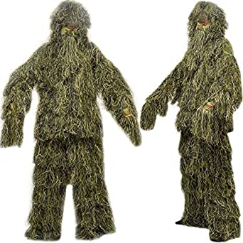 Nitehawk Kids/Childrens Woodland Camo Camouflage Ghillie Suit Small 4-6 Years