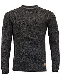 hommes mélange laine tricot Threadbare Pull tricot Pull-over HAUT GAUFRÉ hiver NEUF
