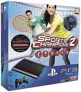 Console PS3 Ultra slim 12 Go noire + Pack Découverte PlayStation Move + Sports Champions 2