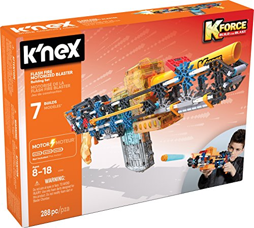 K\'NEX 33941 - K-Force - Flashfire Motorized Blaster - 288 Pieces - 8+ - Bau- und Konstruktionsspielzeug