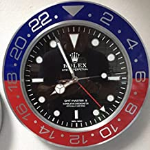 replica Rolex 35 mm de Pared GMT II Master Pepsi Metal Movimiento silencioso + 2 CD