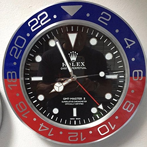 REPLICA Rolex 35 CM da Muro GMT II Master Pepsi Metallo Movimento...