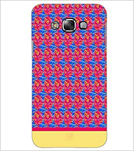 Printdhaba Typography D-1915 Back Case Cover For Samsung Galaxy E7