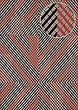 Grafik Tapete ATLAS XPL-564-6 Vliestapete strukturiert mit geometrischen Formen schimmernd silber rot achat-grau alt-rosa 5,33 m2