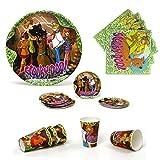 Atosa - Scooby Doo - Kit Stoviglie Festa Compleanno per 5 Bambini