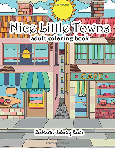 Nice Little Towns Colouring Book for Adults