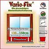 Vario-Fix Standard Haltebügel für 15cm Blumenkasten mit 150cm Spannstange (140)