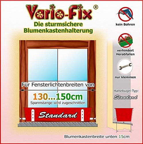 Vario-Fix Standard Haltebügel für 15cm Blumenkasten mit 150cm Spannstange (150)
