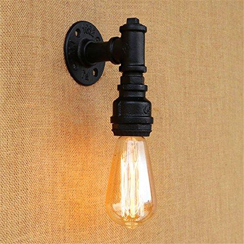 Firsthgus Wandleuchte Modern Vintage Industrie Retro Wandlampe für Wohnzimmer Schlafzimmer Treppenhaus Flur Schmiedeeisen Loft Hose Wandleuchte, schwarz