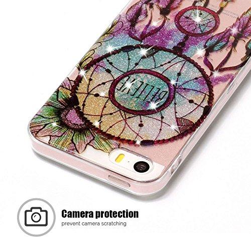 Coque iPhone 5 / 5S / SE, SpiritSun Clair Transparente Etui Coque en Silicone pour iPhone 5 / 5S / SE (4.0 pouces) Flexible TPU Housse Etui Souple Silicone Etui Coque de Protection Mince Légère Etui T Attrape Rêves