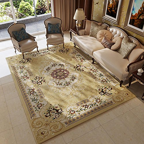 MAXYOYO European Beautiful Floral Carpet Rug, Soft Plush Living Room  Bedroom Dining Room Rug Modern Carpet Area Rugs   Buy Online In Oman.