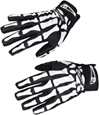 Generic Handschuhe Cadira Motiv Hände von Skelett schwarz/weiß