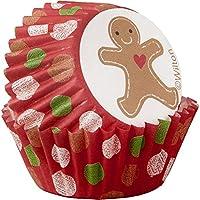 Wilton Gingerbread Boy Mini Cupcake Liners 100-Count, Multicolore, confezione da