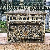 Boîtes Aux Lettres Vintage européenne de Villa rétro de Journal 33 * 10 * 33cm Aux Lettres Sécurisées