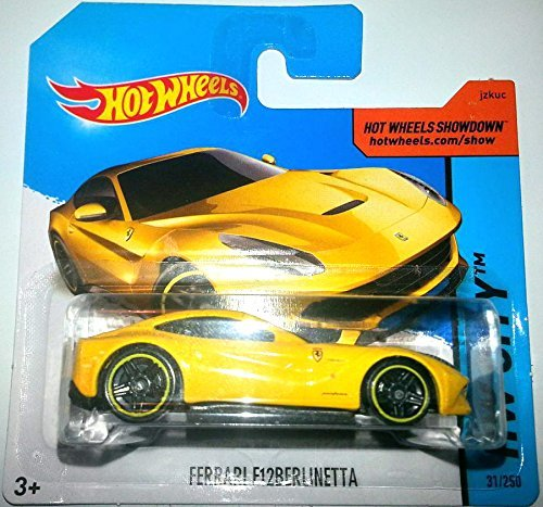 Hot Wheels 2014 HW City FERRARI F12 BERLINETTA 31/250 (YELLOW) by Mattel