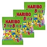 Haribo Jelly Beans, Orsetti, Caramelle Gommose alla Frutta, Dolciumi, 3 Sacchetti, 175g