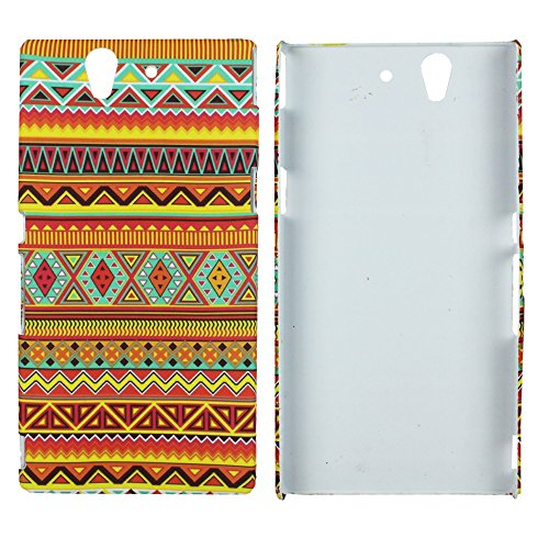 Heartly Aztec Tribal Art Printed Design Retro Color Armor Hard Bumper Back Case Cover For Sony Xperia Z L36H L36I - Vintage Orange  available at amazon for Rs.319