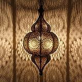 Orientalische Lampe marokkanische Pendelleuchte | Prachtvolle Deckenleuchte für tolle Lichteffekte wie aus 1001 Nacht | Echtes Kunsthandwerk aus Marokko | Moulouk