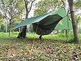 OneTigris Wasserdicht Leichte Ripstop Tarp/Sonnensegel für Camping Wandern 3 × 3m Kompakt Vielseitig Durable Backpacking Persenning