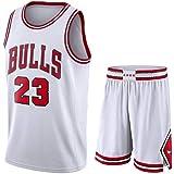 Camiseta Baloncesto Jersey NBA Hombres De Michael Jordan # 23, Transpirable Resistente Al Desgaste Bordó La Camiseta De La Ca