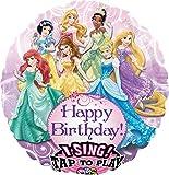 Amscan 2588401 Folienballon Sing-A-Tune Prinzessinnen - Happy Birthday