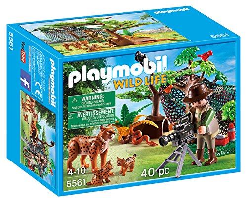Playmobil - Plm Wild Life 5561 Cameraman con Famiglia di Linci