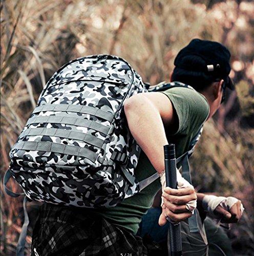 tools Jedi Überleben Huhn Dreistufige Tasche Camouflage Outdoor-Rucksack Leinwand Student Tasche Männer Und Frauen Umhängetasche Mode-Trend,A (Frauen Jansport Rucksack)