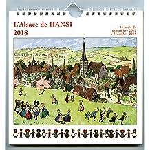 Calendrier 2018 illustré dessin alsace de Hansi 19,5x19,5cm