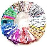 20pcs DIY Nail Art Transfer Foil Sticker Glitter Tip Decal Decoration(Color Random)