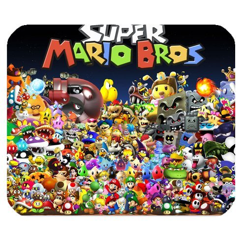Custom Super Mario Bros Mouse Pad Standard Rectangle Mousepad DE-WP682