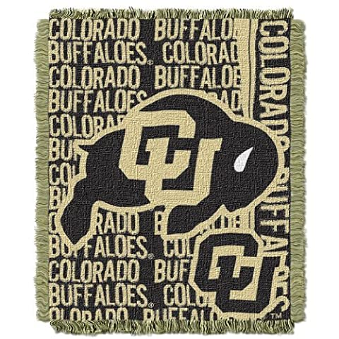 NCAA Colorado Buffaloes FOCUS 48x60 Triple Woven Jacquard Throw