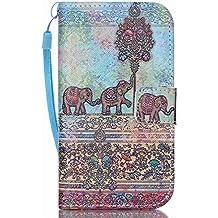 Galaxy Core Prime Case, KATUMO® Samsung Core Prime Wallet Case, Stylish PU Leather Folio Flip Cover Protective Case for Samsung Galaxy Core Prime SM-G360/SM-G361 Pouch Shell-Elephant