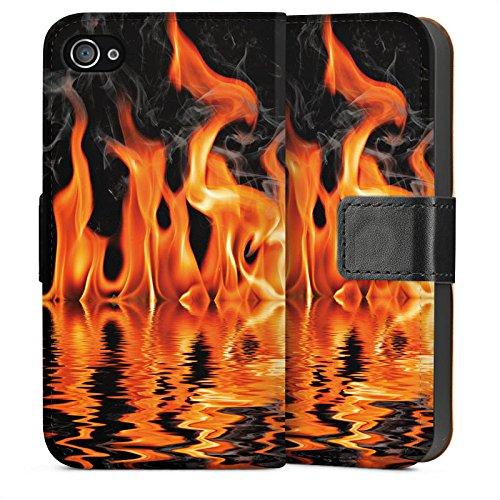 Apple iPhone 4 Housse Étui Silicone Coque Protection Feu Feu Barbecue Sideflip Sac