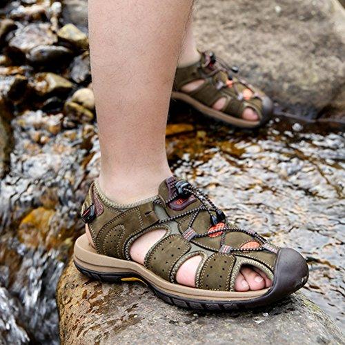 Vogstyle Uomo Sandali All'aperto Trekking Escursionismo Sportive Scarpe Stile 1-Cachi