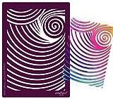Textilschablone - Scrapbookschablone - Schablone aus festem Material - WIEDERVERWENDBAR für T-Shirt Design und viele andere kreative Anwendungen - Abstrakte Spirale OUT - von zAcheR - fineT