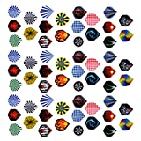 #7: Phenovo 3 Sets 60 Pieces Standard Dart Flights for Steel Tip Darts and Soft Tip Darts, Mixed Color