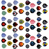 Phenovo 3 Sets 60 Pieces Standard Dart Flights for Steel Tip Darts and Soft Tip Darts, Mixed Color