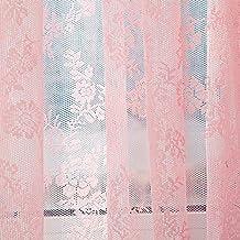 TPulling Warp Stricken Doppelte Spitze Blumen Bloße Vorhang Tüll Fensterbehandlungs Voile  Drapieren