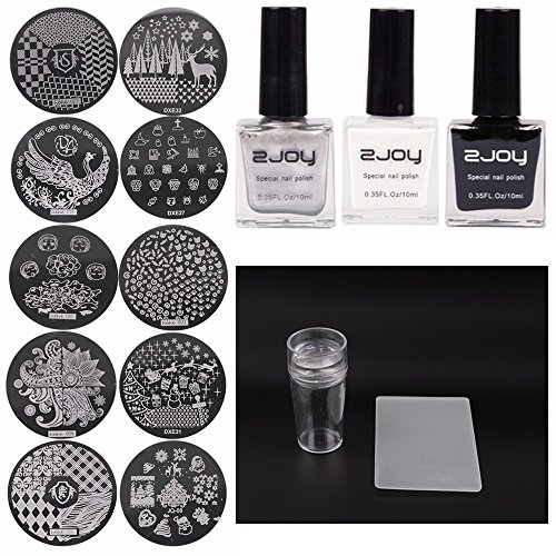 Joligel kit estampación uñas estampador + 3 stamping