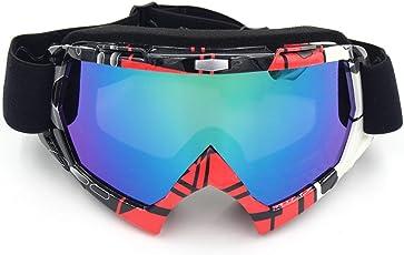 Schutzbrille,Spohife Motorradbrillen Motocross Dirtbike Fahrrad Off-Road Schutzbrille Motorrad Goggles Crossbrille Sportbrille Wind Staubschutz Fliegerbrille Snowboardbrille Brille, Winddicht Staubdicht UV400